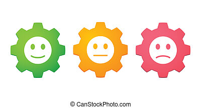 Gears with survey icons