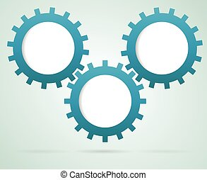 Gears working together infographic - Infographic...