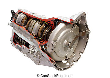 gearshift, car, isolado, branca