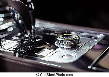 Gearshift inside car