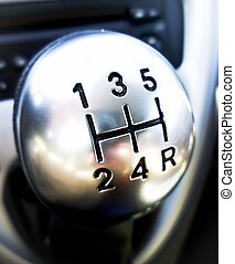 Gearshift - Shift lever in the foreground
