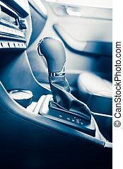 gearstick, transmission, décalage, sélectionneur, automatique, voiture, vitesse