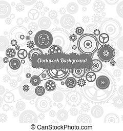 gearwheel, seamless, fond, mécanisme