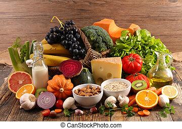 geassorteerd, gezondheid voedsel