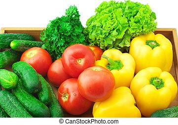 geassorteerd, groentes