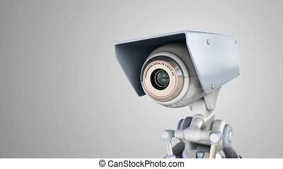 geautomatiseerd, bewaking camera