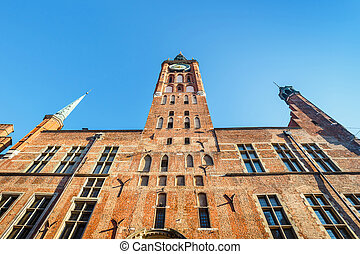 gebäude, altes , zentrieren, polen, historische , stadt, museum, gdansk