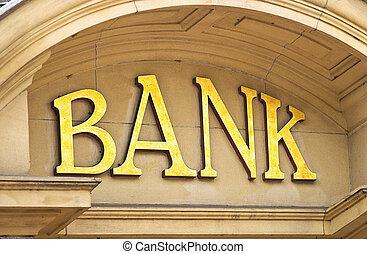 Gebäude,  bank, zeichen
