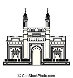 gebäude, berühmt, masjid, jama, ikone