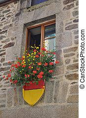 gebäude, flowers., mittelalterlich