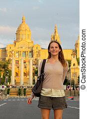 gebäude, front, tourist