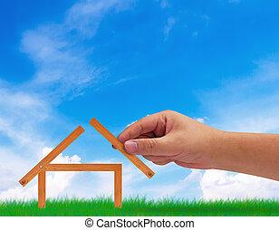 Gebäude, Haus, Begriff