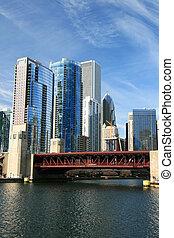 gebäude, high-rise, chicago