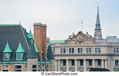 gebäude, montreal, historische