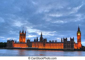 gebäude, parlament, london