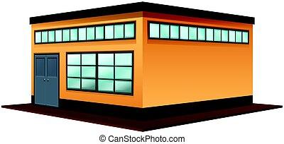 gebäude, quadratisches design, architektur