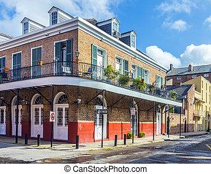 Gebäude, quartal, historisch, franzoesisch