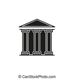 gebäude, regierung, -, abbildung, bank, ikone