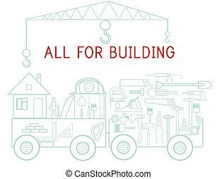 gebäude, reparatur, heiligenbilder, auto, hintergrund, instrumente