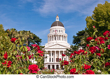 gebäude, staat, kalifornien, kapitol