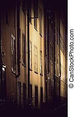 gebäude, weinlese, stockholm