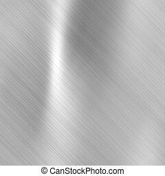 gebürsteter stahl, metallisch, platte