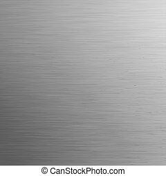 gebürstetes metall, schablone, hintergrund., eps, 8