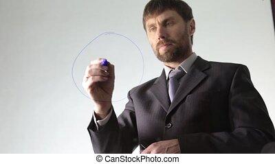 gebaard, verlekkeert, schema, diagram, circuit, zakenman,...