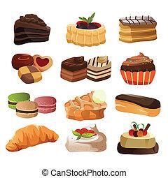 gebakje, iconen