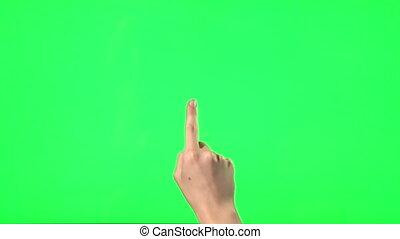 gebaren, touchscreen, -, 21, vrouwlijk