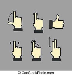gebaren, werken, moderne, gadgets, basis, gids