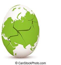 gebarsten, globaal, ei