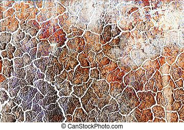 gebarsten, textuur