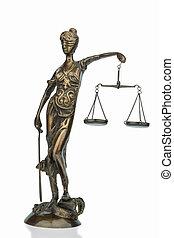 gebeeldhouwd kunstwerk, van, justitie