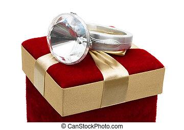 geben, ring, diamant