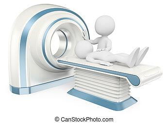 geberekeend, mensen., tomography., witte , ct, 3d