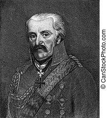 Gebhard Leberecht von Blucher (1742-1819) on engraving from...
