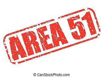 gebied 51, rood, postzegel, tekst