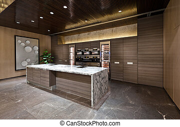 gebied, marmer, keuken, vloer
