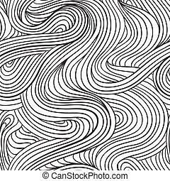 gebogen, lijnen, model