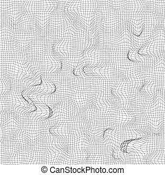gebogen, vektor, hintergrund, abbildung, grid.