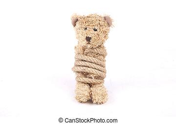 gebonden, teddy beer