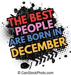 geboren, december, meldingsbord, best, mensen