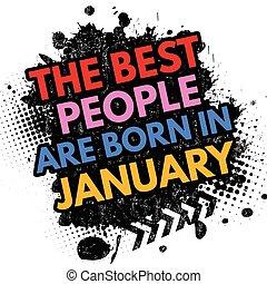 geboren, januari, meldingsbord, best, mensen