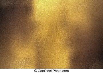 geborstelde, brons, folie, muur, metalen