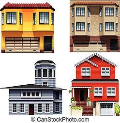 gebouw, anders, ontwerpen