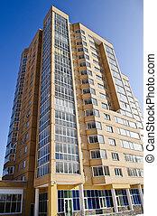 gebouw, appartement blok