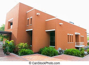 gebouw, baksteen, universiteit, burapha
