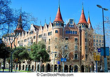 gebouw, barcelona