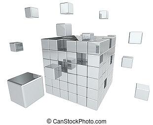 gebouw, blocks.